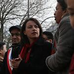 Cécile Duflot, ministre de l'Égalité des Territoires et du Logement, George Pau-Langevin, ministre déléguée auprès du ministre de l'Éducation nationale