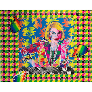 Ben Copperwheat 'Divas: 'Joan Rivers'' Signed Canvas Print