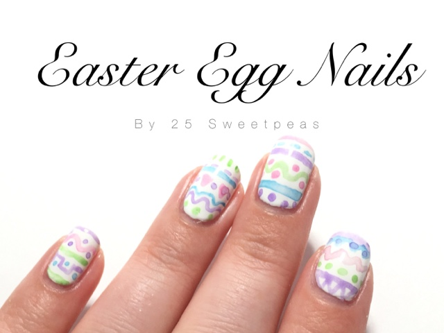 Happy Easter Easter Egg Nails 25 Sweetpeas