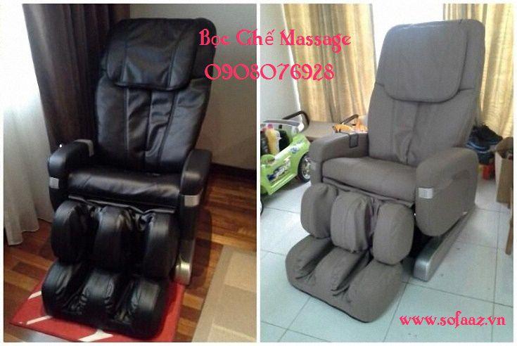 Bọc ghế massage vệ sinh ghế như mới HCM