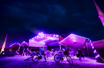 Photo: PINK HEART CAMP Pink Heart Camp is a Burning Man Beacon. You can glance over from anywhere on the playa and see the gentle pink glow emanating from Pink Heart at 9:00 and Esplanade. The story behind the camp is even cooler. It is run by John Halcyon Styn. I could write an entire book on how awesome this guys is, but just Google him or look up some of his videos on YouTube and you'll see for yourself. He has lots of videos that helped me prepare for Burning Man last year as a virgin, but he also has a show called Hug Nation that is a benefit on so many levels. Don't miss John's TEDx talk either. I wish there were more people like him.