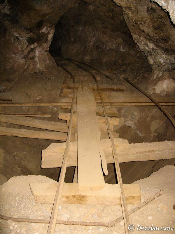 An interesting bridge across an open hole. I'm sure it is OSHA approved!