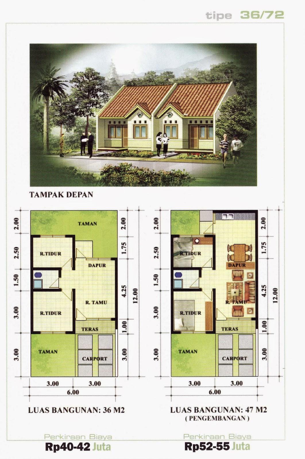 gambar rumah dan denah gallery taman minimalis