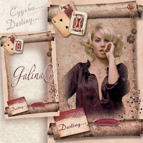 Vintage Frame for Photoshop - Destiny, Guessing and Cards