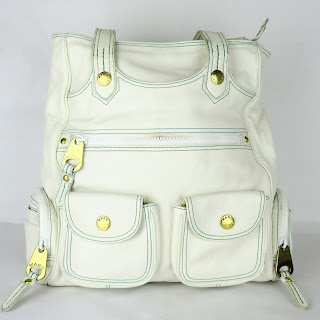 Marc Jacobs White Leather Shoulder Tote