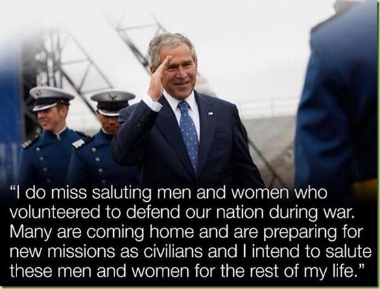 bush salutes our military