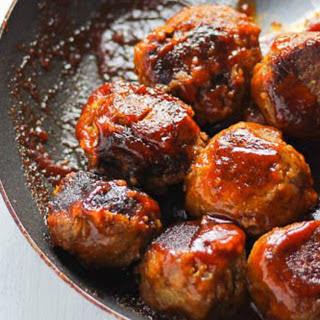 BBQ Lentil Meatballs [Vegan].