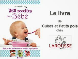 livre Cubes et Petits pois 365 recette bébé
