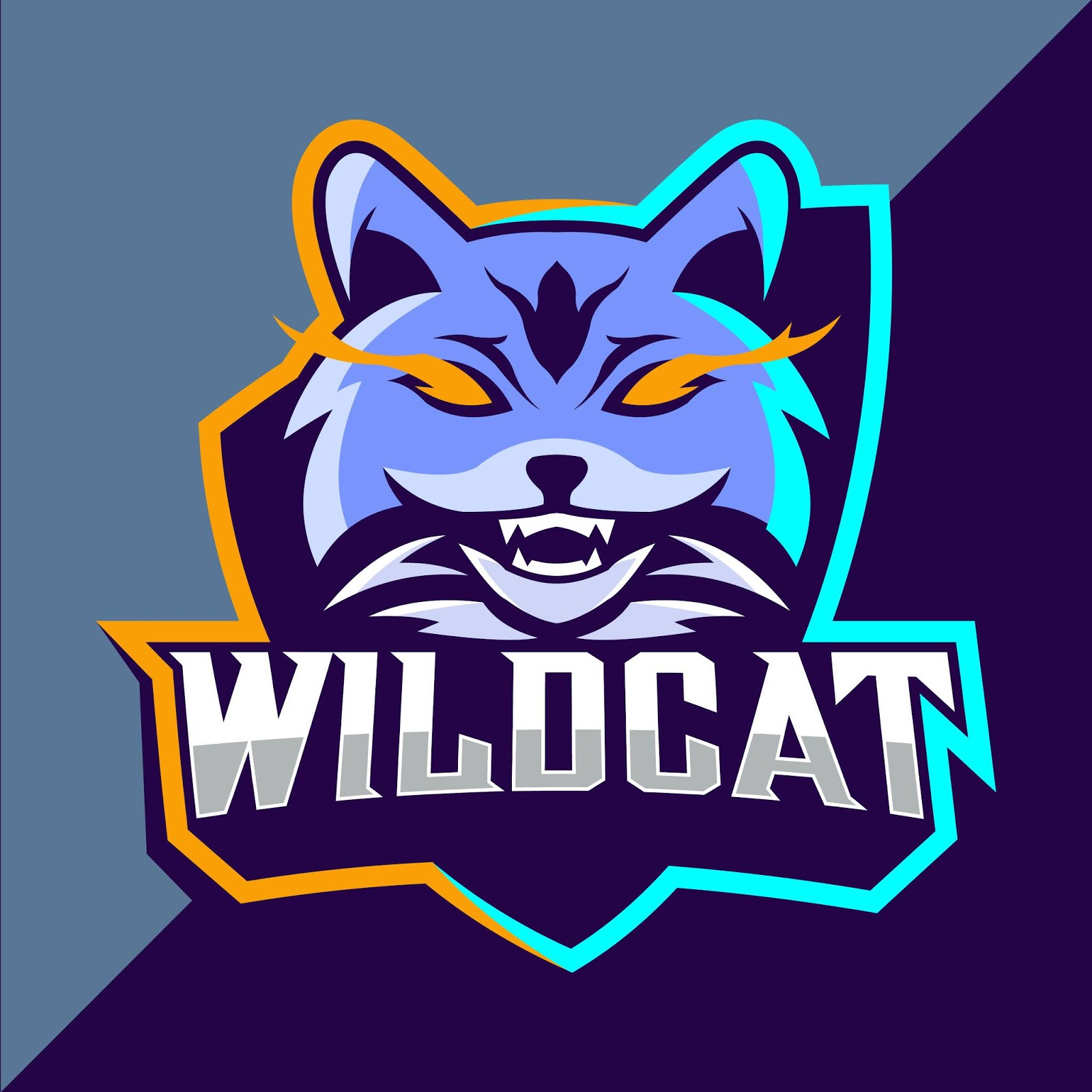 Wildcats Mascot Esport Logo Free Download Vector CDR, AI, EPS and PNG Formats