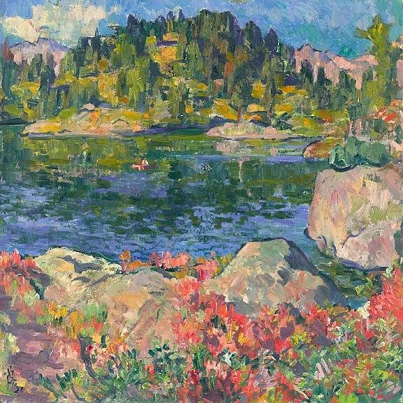 Giovanni Giacometti - At Lake Cavloccio