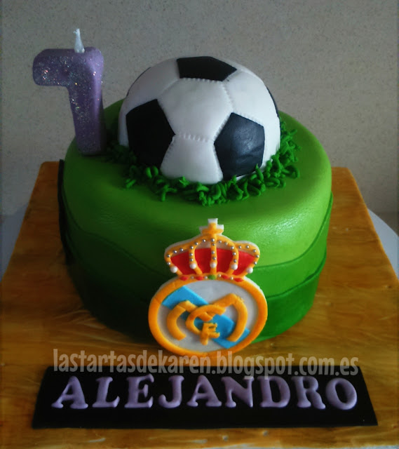 tarta escudo real madrid, tarta real madrid, tarta futbol