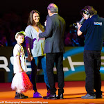 STUTTGART, GERMANY - APRIL 18 : Agnieszka Radwanska at the 2016 Porsche Tennis Grand Prix players introduction