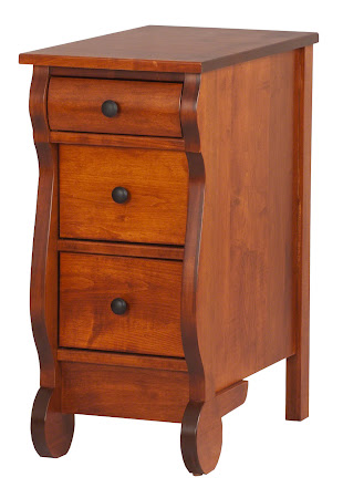 Classic Nightstand with Drawers, in Iconic Maple