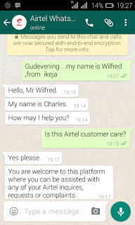 Airtel customer care now on whatsapp