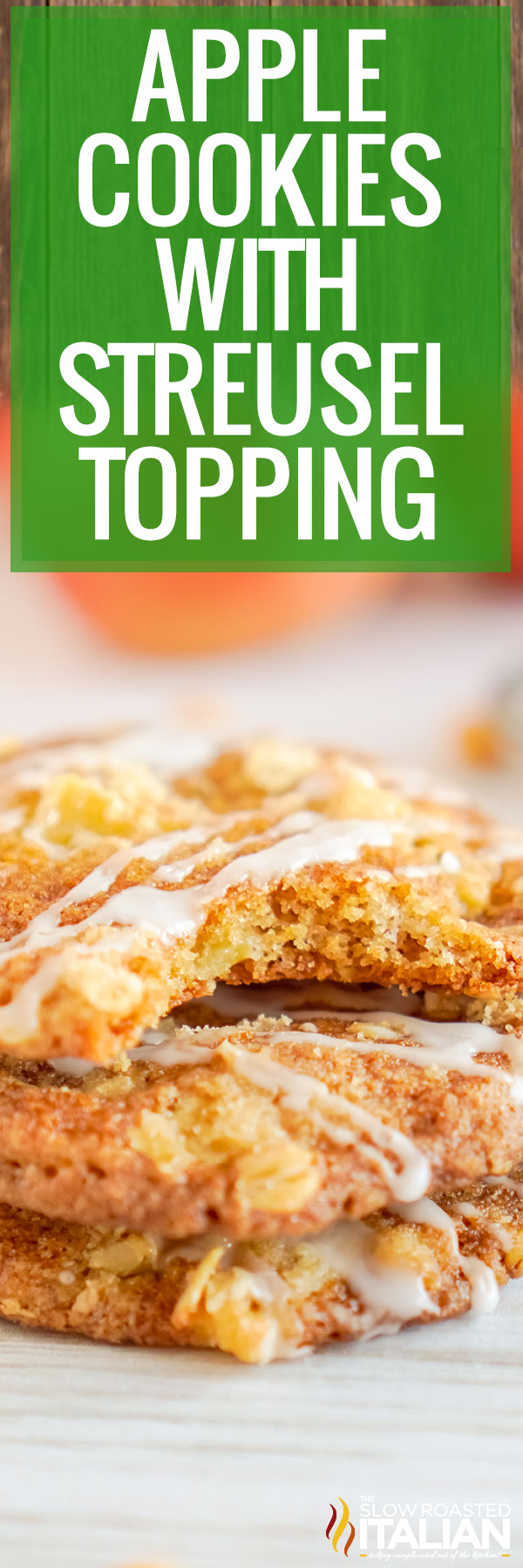 collage photo (title text): Apple cookies with streusel