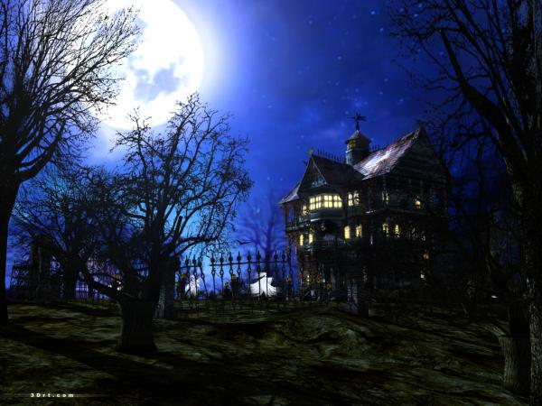 Haunted House And Moon, Fantasy Scenes 3