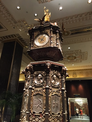 Clock in the Waldorf Astoria