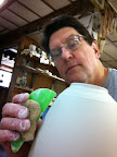 Finishing up lamps for my Holiday Sale, my 1st selfie