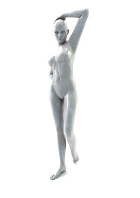 femme 3D pose artistique matiere nacre 3-02b