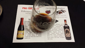 Pike Chocofest 2014, A great combination was the Chocolate Raspberry beer cocktail, which combines Lindemans Lambic Framboise, a raspberry ale, with Samuel Smith's Organic Chocolate Stout