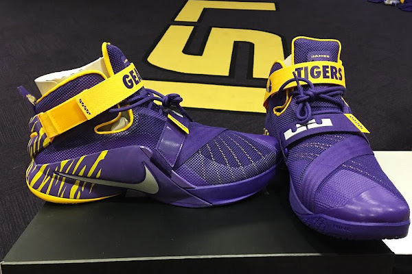 Ben Simmons Shows Off LeBron Soldier 9 LSU Tigers PE