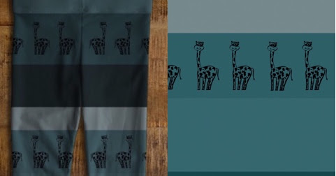 Adorable giraffe print baby leggings, new at Felicianation Ink!