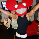 deadmau5 mask is always a hit in Toronto, Ontario, Canada