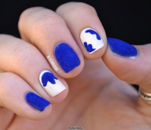 Velvet Manicure with Flocking Powder