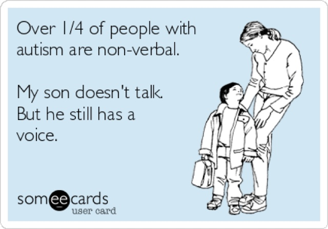 talking and autism