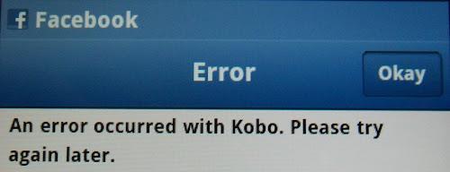 Kobo Error Message