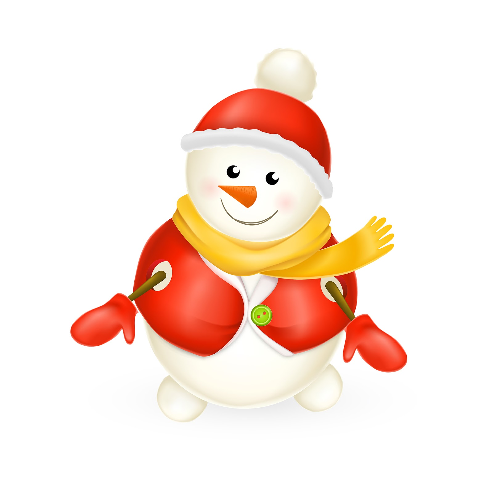 Smiling Snowman Free Download Vector CDR, AI, EPS and PNG Formats