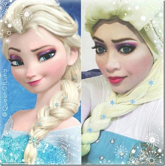 Reina Elsa de Frozen M  Saraswati