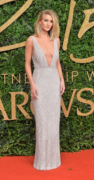 Rosie Huntington Whiteley attends the British Fashion Awards 2015