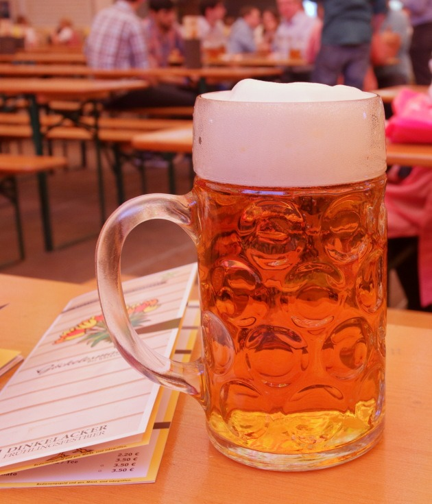 The mighty big mug of German beer