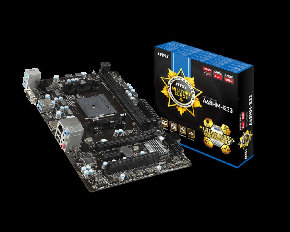 Mainboard MSI A68HM-E33, thay thế và tiên tiến hơn chipset AMD A58 - 75393