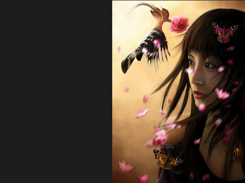 Samurai And Small Bird, Magic Samurai Beauties