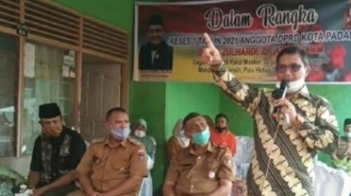Anggota DPRD Kota Padang Zulhardi Z Latif Jemput Aspirasi Warga Karang Ganting Ampang.