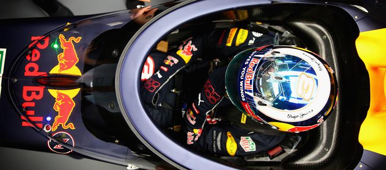 Daniel Ricciardo prueba el Aeroscreen en los entrenamientos libres del GP de Rusia 2016