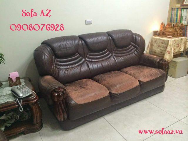 Bọc ghế sofa da bò Ý thay da ghế sofa da bò Italy