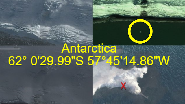 """62° 0'29.99""""S 57°45'14.86""""W Entity came from out of Antarctica secret base."""