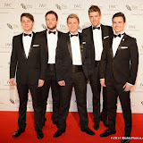 WWW.ENTSIMAGES.COM -  Collabro  arriving at       IWC Schaffhausen and BFI London Film Festival - private dinner at Battersea Evolution, London October 7th 2014Swiss watch brand and British Film Institute host party to celebrate their three year partnership.                                                Photo Mobis Photos/OIC 0203 174 1069