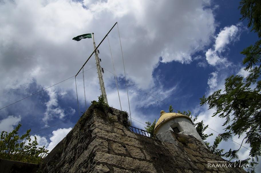 暸望台與區旗