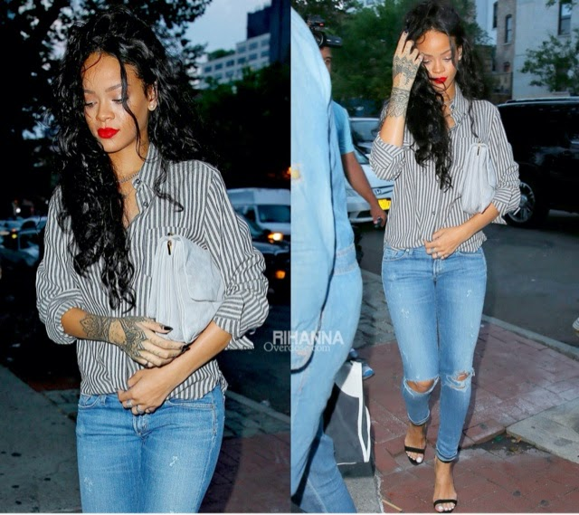 Rihanna in Isabel Marant, Citizens of Humanity