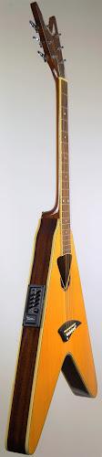 Armadillo enterprises luna electro-acoustic VCO NT flying v shaped vee Guitar