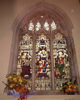 The stained glass window in St. Ethelreda Church, West Halton