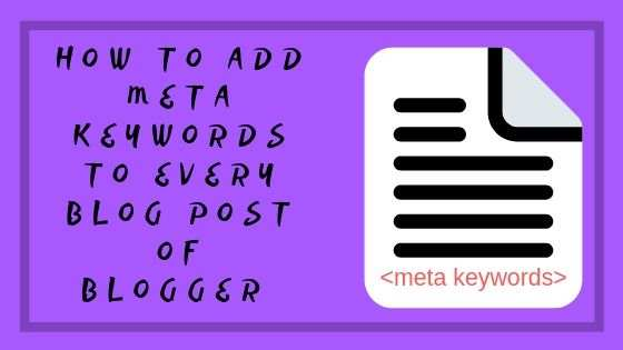 add meta tags to every blog post blogger