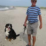 – Far og Lua på strandtur