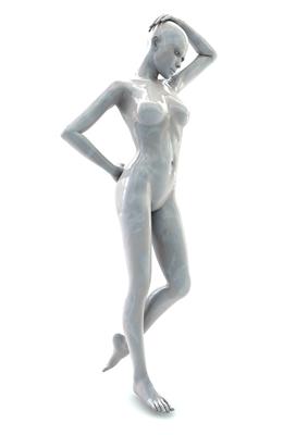 femme 3D pose artistique matiere nacre 3-02a