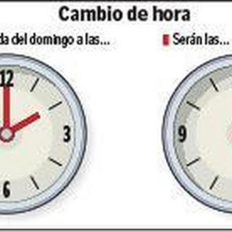 El cambio de hora, humor