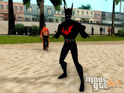 Skin Batman do Futuro - Batman Beyond para GTA San Andreas